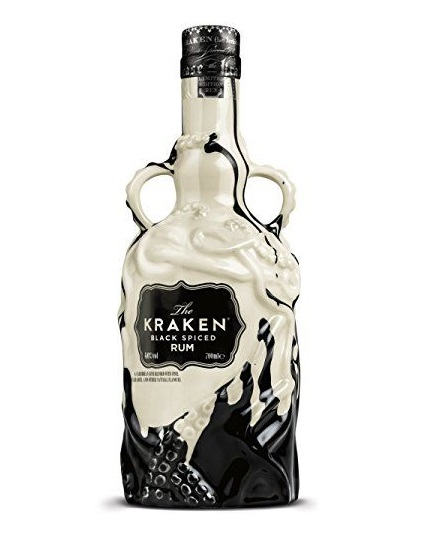 Kraken Black Spiced Rum Black & White Ceramic Limited Edition 2017 0,7L 40%